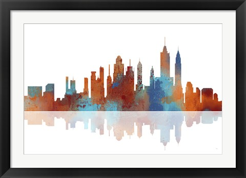 Framed New York New York Skyline 2 Print