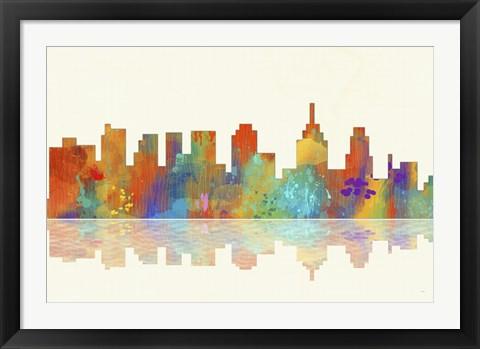 Framed Philadelphia Pennsylvania Skyline 1 Print
