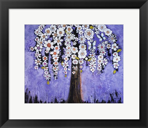 Framed Butterfly Tree Print