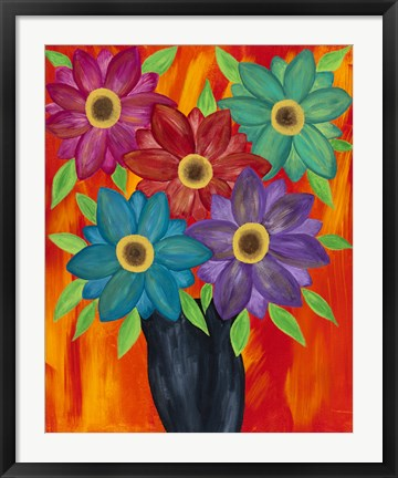 Framed Blooming Colors Print