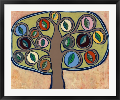 Framed Calming Tree 1 Print