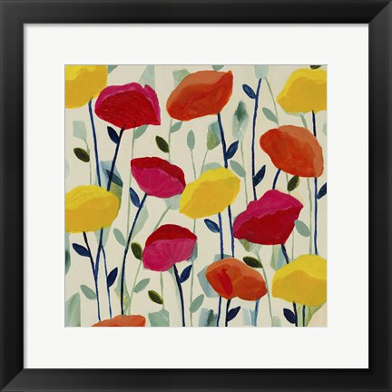 Framed Cheerful Poppies Print