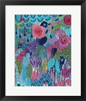 Framed City In Bloom Print