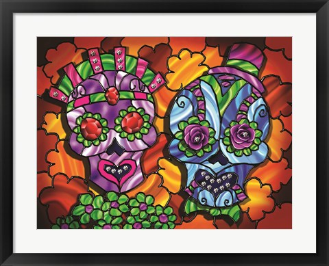 Framed Day of the Dead 1 Print