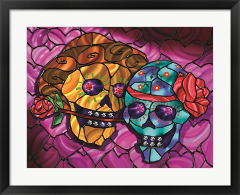 Framed Day of the Dead 2 Print