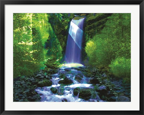 Framed Waterfall B Print