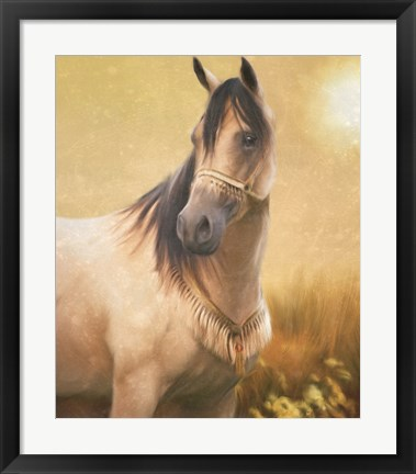 Framed Arabian Gold Print