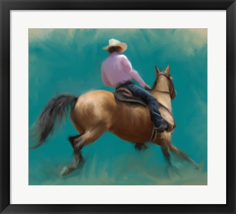 Framed Barrel Racer Print