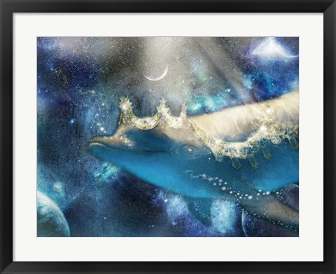 Framed Dolphin Guardian Print