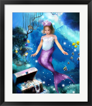 Framed Mermaid Princess Print