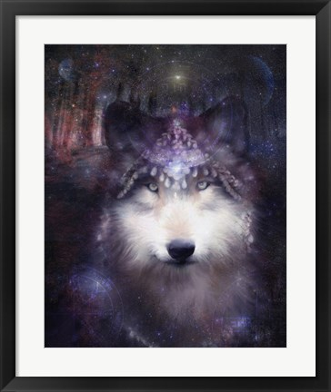 Framed Wolf Guardian Print