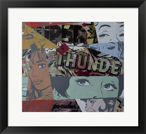 Framed Super Thunder Print