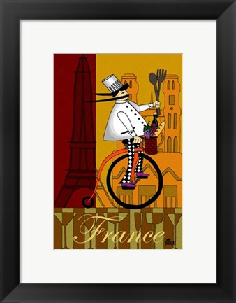 Framed Chef in France Print