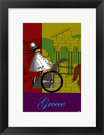 Framed Chef in Greece Print