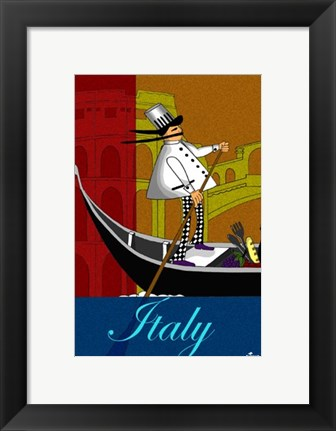 Framed Chef in Italy Print