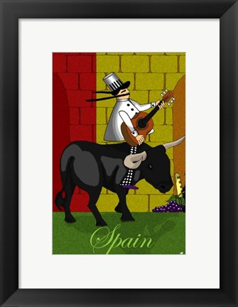 Framed Chef in Spain Print