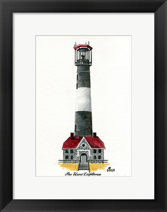 Framed Fire Island Lighthouse, NY Print