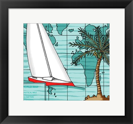 Framed Ocean Breeze Print