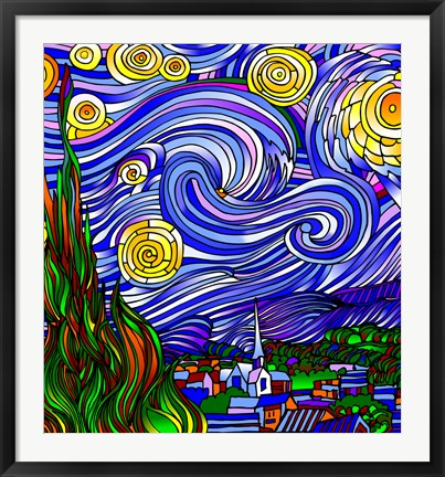 Framed Starry Night 1 Print