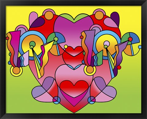 Framed Love Color Heart Print