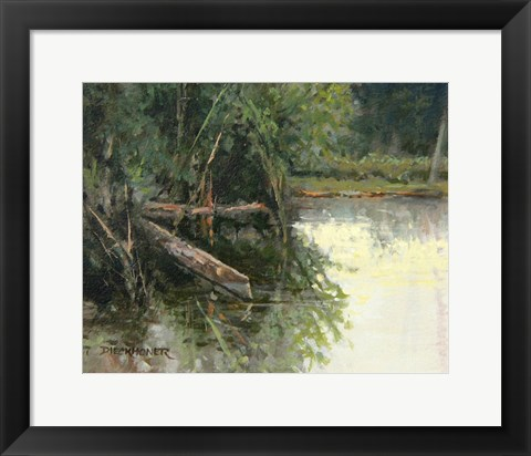Framed Quiet Waters Print