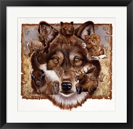 Framed Wolf's World Print