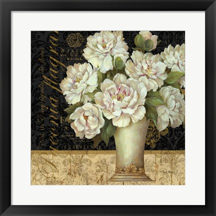 Framed Antique Floral Still Life II Print