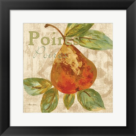 Framed Rustic Fruit IV Print