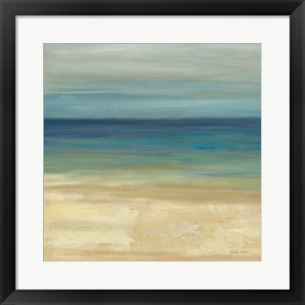 Framed Navy Blue Horizons I Print