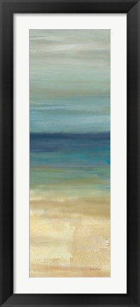 Framed Navy Blue Horizons Panel I Print