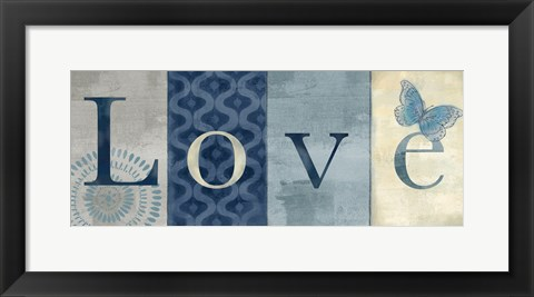 Framed Live Love Laugh Navy II Print