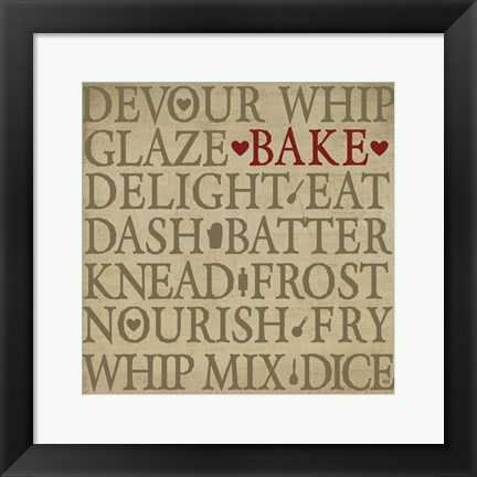 Framed Chef's Words I Print