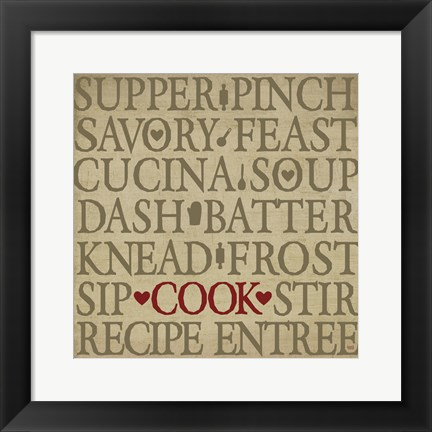 Framed Chef's Words II Print