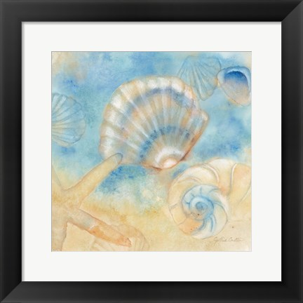 Framed Watercolor Shells II Print