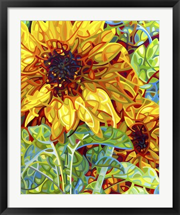 Framed Summer In The Garden Print