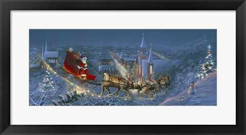 Framed Christmas Travelers 2 Print