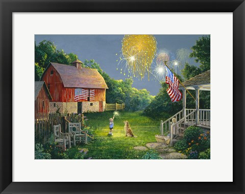 Framed Fourth of July Print