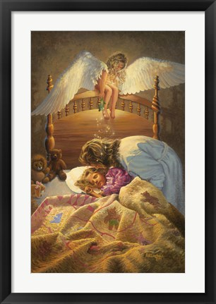 Framed Kissing Angel Print