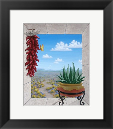 Framed Aloe and Chilis II Print