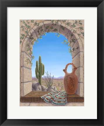 Framed Saguaro View Print
