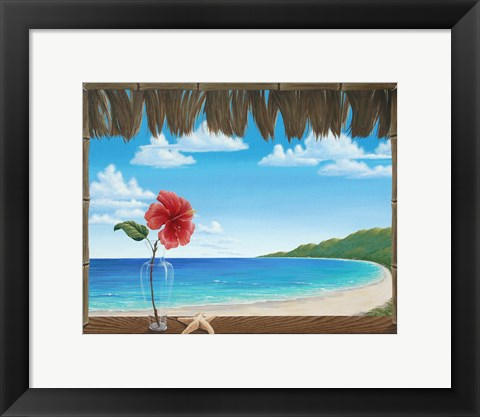 Framed Una Playa Perfecto Print