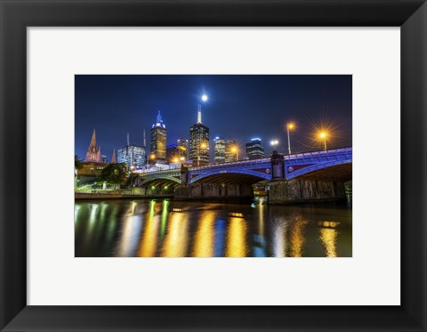 Framed Reflections in a River Print