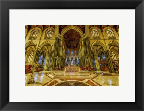 Framed Church Interior Print