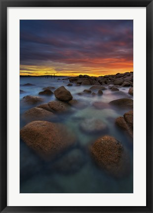Framed Water and Rocks 9 Print