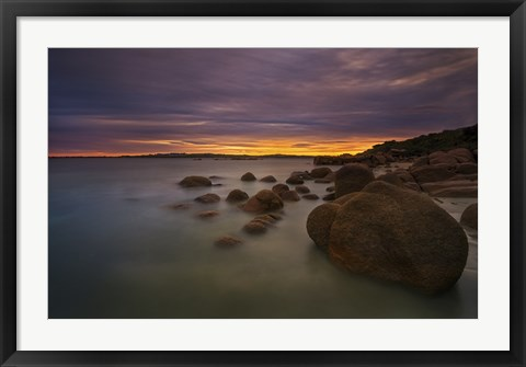 Framed Water and Rocks 10 Print