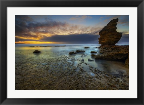 Framed Water and Rocks 5 Print