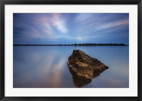 Framed Water and Rocks 1 Print
