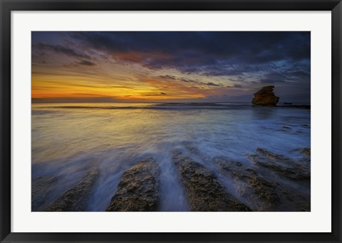 Framed Water and Rocks 6 Print