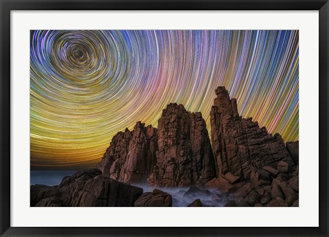 Framed Pinnacle Stars Print