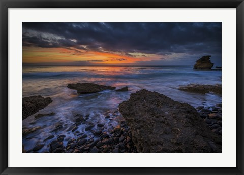 Framed Water and Rocks 7 Print